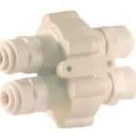 Hydronamic (ASV-100-JG) Auto Shut Off Valve w/ 1/4″ Quick Connect Fittings White