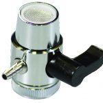 Puregen (CT-DV-14S-L) Diverter Valve 1/4″ Barb with Lever; Chrome – Lead Free