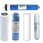 Isopure Water (ISO-5PK) Universal Reverse Osmosis (RO) 5 Filters Plus Membrane Replacement Set – 24 – GPD – 1/4 – NPT